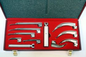 EMT Laryngoscope Mac + Miller Set Anesthesia with Beautiful Box