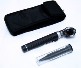 Fiber Optic Otoscope Mini Pocket Black Medical Ent Diagnostic Set