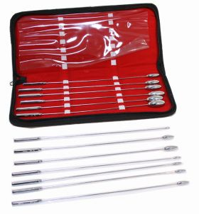 13 Pc Set of Bakes Rosebud Uterine Urethral Dilator With Carrying Case