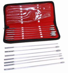 13 Pc Set of Bakes Rosebud Uterine Urethral Dilator With Carrying Case