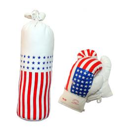 10oz USA Mini Punching Bag Set