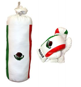 10 oz Mexico Mini Punching Bag Set