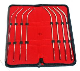 Van Buren Sound Urethral Set of 8 Surgical Instruments