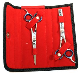 "6.5"" Professional Hair Cutting Razor Edge Barber & Thinning Scissors 2 pc Set"