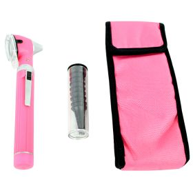 Fiber Optic Otoscope Mini Pocket Pink Medical Ent Diagnostic Set