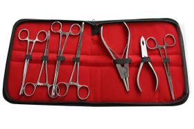7pcs Body Piercing Tools Kit Surgical BD Instruments