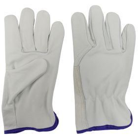White Cowhide Leather Safety Protective Gloves Welding Welder Work Repair Pair