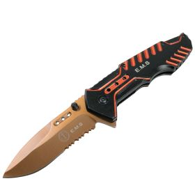 Defender Tactical Orange Spring Assisted Folding Knife 3CR13 Stainless Steel