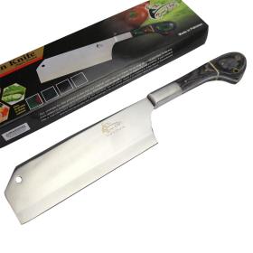 "TheBoneEdge 12"" Chef Kitchen Cleaver Knife Black Packawood Handle Stainless Steel"