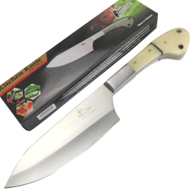 "TheBoneEdge 11"" Chef Choice Kitchen Knife Bone Handle Stainless Steel Full Tang"