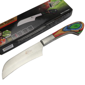 "TheBoneEdge 10"" Chef Choice Kitchen Knife Packawood Handle Stainless Steel Full Tang"