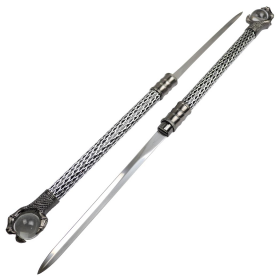 "The Hidden Twin Sword 30"" Staff Set Eagle Crystal Claw Handle Dacorative Sword"