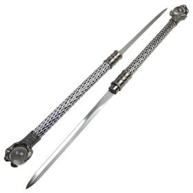 "The Hidden Twin Sword 30"" Staff Set Eagle Crystal Claw Handle Dacorative Sword"