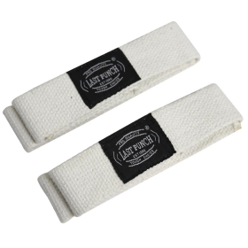 Last Punch White Weight Lifting Wrist Assist Wraps Exercise Equipment