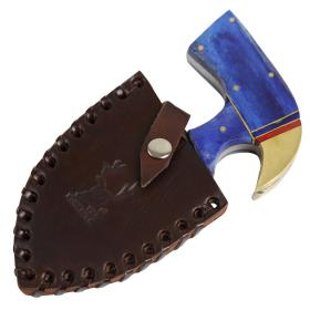 "TheBoneEdge Wooden Handle 6"" Full Tang Damascus Blade Skinner Knife Hand Forged"