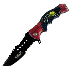 "Defender-Xtreme Widow 8.5"" Spring Assisted Folding Knife Stainless Steel Sharp"