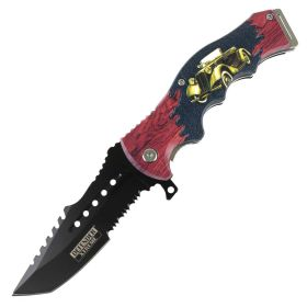 "Defender-Xtreme 8.5"" 20'S Street Car Spring Assisted Folding Knife Stainless Steel"