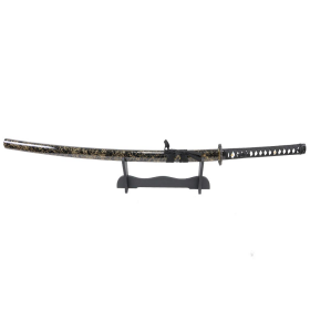 "Defender-Xtreme 41"" Samurai Katana Sword Collectible Handmade Swords Blk & Gold"
