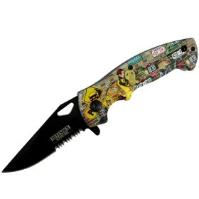 "Defender-Xtreme 7.5"" Streets Lady Rider Tactical Spring Assisted Folding Knife"