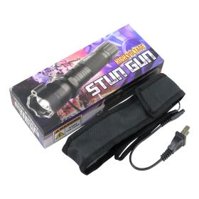 Defender 10 Million Black Tactical Flashlight Stun Gun With Laser Pointer New