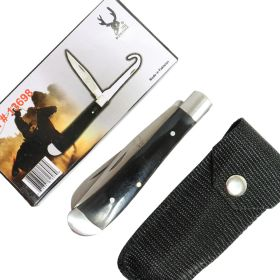 "TheBoneEdge 7"" Folding Knife Bottle Opener 2 in 1 Accessory Tool Nylon Sheath Black"