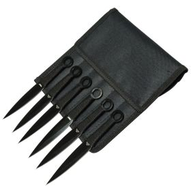 "Defender-Xtreme 6.5"" All Black Throwing Knives Set of 6"