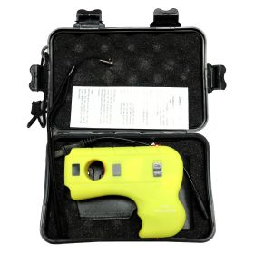 Defender-Xtreme Yellow Stun Gun with LED  Safety Switch  Sheath & Carrying Case