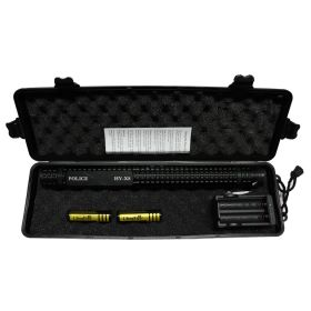 "13.5"" Black Tactical Stun Gun w/ LED Flash Light Case Rechargeable Safety Switch"