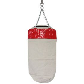 Red Canvas Punching Bag with Chains Brand New