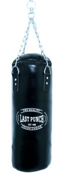 Heavy Duty Filled Black Punching Bag - Large With Chains