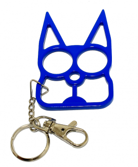 Cat Self Defense Keychain - Blue