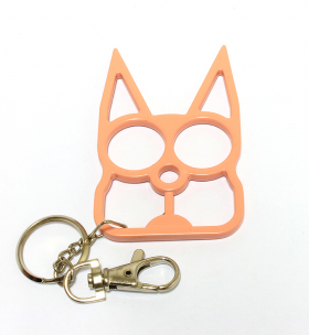 Cat Self Defense Keychain - Pink