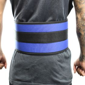 "Last Punch® 6"" Nylon Power Weight Lifting Belt / Back Support Belt Blue"