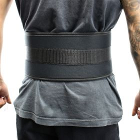 "Last Punch® 6"" Nylon Power Weight Lifting Belt / Back Support Belt Black"