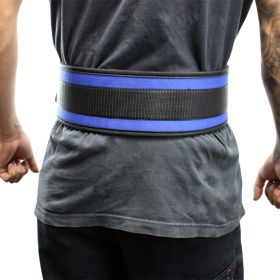 "Last Punch® 4"" Nylon Power Weight Lifting Belt / Back Support Belt Blue"