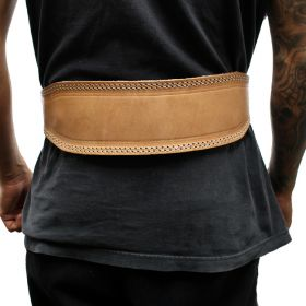 "Last Punch 4"" Weight Lifting Body Building Belt Gym Fitness Wide Padded Leather all Sizes"
