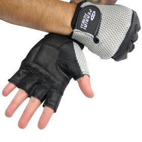 Leather Gloves Silver Color