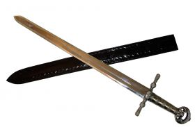 "38"" Medieval Knight Sword Sharp with Black Sheath"