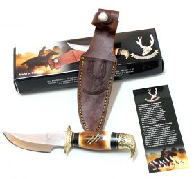 "8"" Eagle Head Skinner Knife Bone Handle Hunting Knife"