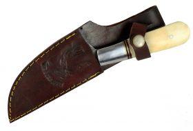 """8.5"""" Damascus Skinner Knife Bone Handle Series Full Tang"""