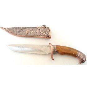 """11"""" Dagger with Sheath Copper Color & Eagle Design"""