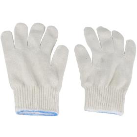 White Cotton Polyester Blend String Knit Gardening Mechanic Handling Work Gloves