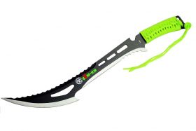 "24"" Full Tang Zomb-War Hunting Sword with Green Handle & Sheath"