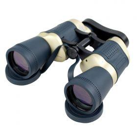Perrini 30X50 Dark Blue & Tan Free Focus High Definition Binoculars