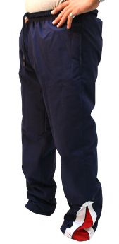 Micro Fabric Plain Sports Track Trouser Navy Red