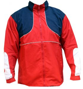 Micro Fabric Warm up Sports Full Zip Track Top Upper Red