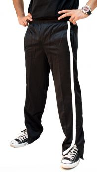 Micro Plain Sports Panel Style Jogging Track Trouser
