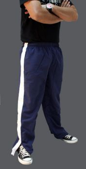 Micro Plain Sports Panel Style Jogging Track Trouser Royal