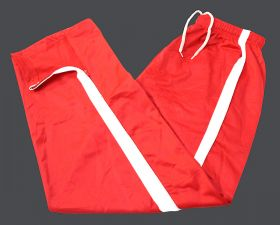 Micro Plain Sports Panel Style Jogging Track Trouser Red