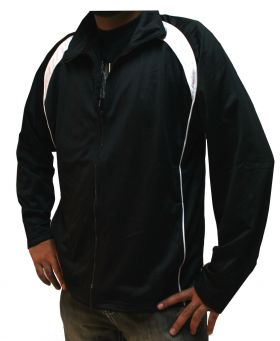 Tricot Warm up Sports Full Zip up Track Top Black